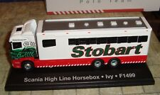 EDDIE STOBART - SCANIA HIGH LINE HORSEBOX 'IVY'  POLO TEAM  - 1:76 - BOXED