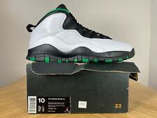 Men's Nike Air Jordan 10 X Retro Seattle Super Sonic City Pack 10.5 310805-137
