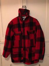 Vintage Woolrich 1950 505 Mackinaw Jacket Buffalo Plaid Sz 40 Hunting Jacket USA