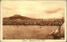 Neapel Napoli Italien Italia Kampanien AK ~1930 Panorama Küste Hafen Stadt Costa