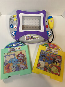 LEARN THROUGH MUSIC PLUS & 2 cartridges Sesame St Dora SpongeBob Blues-Tested