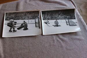 2 1960s Providence Reds/Springfield Kings hockey 7x9 ORIGINAL press photos