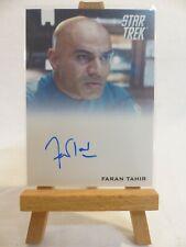 Star Trek 2009 movie trading card autograph Faran Tahir as Captain Robau
