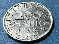 200 Mark 1923 F Alu Kursmünze Weimarer Republik Notgeld - s Bild