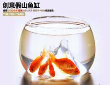 Clear Rockery Flower Glass Vase Planter Fish Tank Aquarium Home Decoration