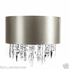 CHAMPAGNE GOLD JEWEL DROPLET SHADE LIGHTSHADE CHANDELIER PENDANT  FREE DELIVERY