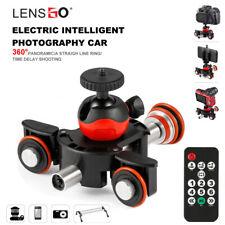 LENSGO Camera Video Dolly Truck Motorized Electric Slider Motor for Nikon Canon
