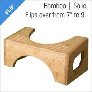 SQUATTY POTTY Flip Bamboo Stool Toilet Bathroom