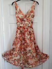 50's style dress size 10. Yellow/ orange  flowers. Prom/Occasion/wedding.