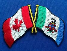Canada / Yukon Flag Patch Embroidered Iron On Applique