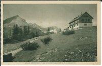 Ansichtskarte Adolf Zöppritzhaus am Kreuzeck mit Zugspitze und Stempel - s/w