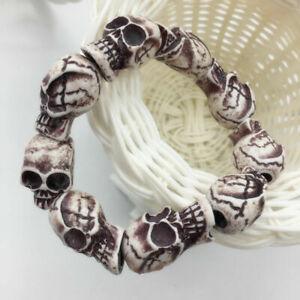 Skull heads Hipsters Elastic Chain Bracelet Chain Bracelet Charm Cuff Bangle