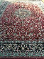 "12' x 17'2"" Indian Oriental Rug - Hand Made - 100% Wool - Full Pile"