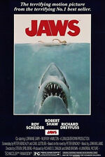 JAWS MOVIE POSTER (61x91cm) SHARK ATTACK PICTURE PRINT NEW ART