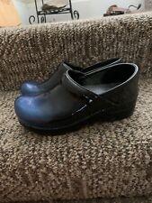 Dansko Professional Clogs Rare Blue Patent Leather Ombré Size 36