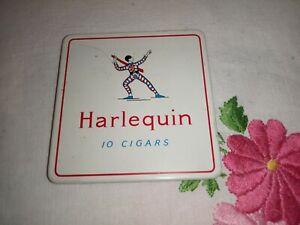 VINTAGE HARLEQUIN CIGAR TIN CASE
