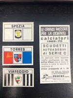 SCUDETTO SERIE C 1969/70 SPEZIA / TORRES / VIAREGGIO  NUOVI CON VELINA