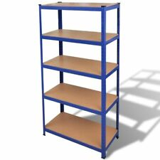 Silver/Blue 1/2 Garage Shelving Storage Shelves 90x180cm Racking Stand Warehouse