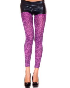 Purple Leopard Print Leggings