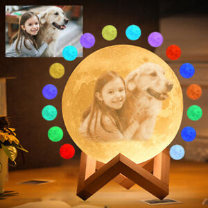 15cm 3D Personalized Moon  Print Moon Lamp Night Light Photo Custom Gift