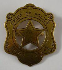 Chief of Police Badge. Ennis, Texas - Ranger/Police/Cowboy Wild West Western US