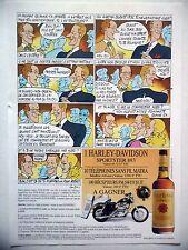PUBLICITE-ADVERTISING :  FOUR ROSES Bourbon  1990 Lauzier,Whisky,Moto