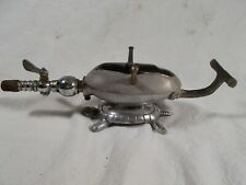 Turtle base Figural Gas Heater with Curling Iron Antique Victorian Era
