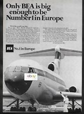 BEA BRITISH EUROPEAN 1968 ONLY BEA BIG ENOUGH TO BE NO 1 IN EUROPE TRIDENT AD