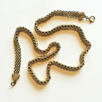 """Antique Gold fill Necklace watch chain Wide Chunky gold fill 15"""" choker"""