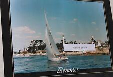 Benodet affiche photo ancienne couleurs Odet estuaire poster Bretagne 70cm neuf
