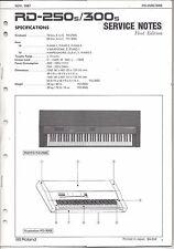 Roland Original Factory Service Notes RD-250s/300s Digital Piano