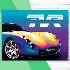 TVR Tuscan Metal Wall Sign Garage Classic Car Men Gift Decor 30x41cm 50159