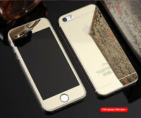 Mirror Tempered Glass Front+Back Screen Protector For iphone 7 6 6S Plus 5 5S 4S