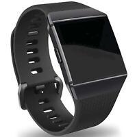 Fitbit Ionic Armband Size L Ersatz Band Silikon Sport Ersatzband Fitness Schwarz
