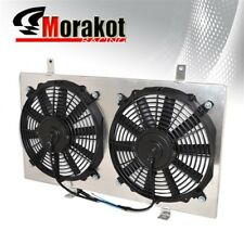 For 89-95 Nissan 240Sx S13 CA18 Manual MT Jdm Aluminum Radiator Fan Shroud Kit