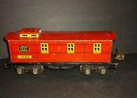 Lionel R.R. Lines Train #1682 Pre-war Tin Caboose