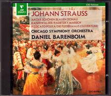 Daniel BARENBOIM: J. STRAUSS An der schönen blauen Donau Die Fledermaus ERATO CD