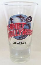 PLANET HOLLYWOOD  DALLAS  FLUTED  3 1/2  INCH SHOT GLASS