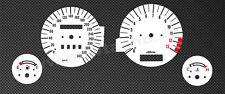 Kawasaki ZZR 1100 ZZR1100 Tachoscheiben Tacho Gauge dial speedo face Set  weiss