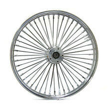 "FAT SPOKE 26"" BIG WHEEL FRONT CHROME 26 X 3.5 HARLEY FLHR ROAD KING FLHRS 00-07"