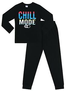Boys Chill Mode ON Cotton Gaming Long Pyjamas 9 to 16 Years