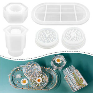 Jar Rolling Tray Mold Resin Molds Herbal Crusher Resin Casting Silicone Mould
