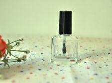 15ml Empty Nail Polish Bottle Clear Glass With Agitator Mixing Balls 2-20PCS