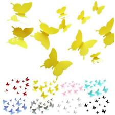 CLEARANCE 10 Pieces 3D Butterfly Wall Decals.  PVC Poster Decoration Home Decor