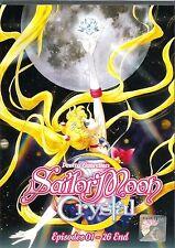 Anime Japan DVD Sailor Moon Crystal Pretty Guardian Vol.1-26End Complete BoxSet