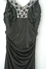 Charlotte Russe Long Black Satin Formal Dress Size 2 ($100+ new on rack)  *NWOT*