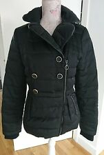 vero moda black feather winter coat size S