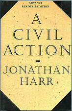 Fiction: A CIVIL ACTION by Jonathan Harr. 1995. Uncorrected Proof