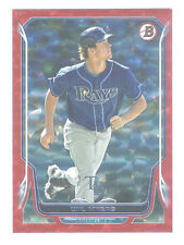 2014 Bowman RED SPARKLE REFRACTOR 16/25 Wil Meyers TAMPA BAY RAYS - MINT!