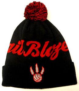 NBA Toronto Raptors/Portland Trailblazers MISPRINT Adidas Pom Cuffed Knit Hat